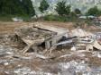 Ein Dorf wurde unter einer Schlammlawine begraben