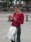 Eine deutsche Touristin verloren in der grossen Stadt... :)