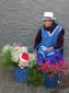 Kleiner Verkaufsstand auf dem Blumenmarkt