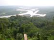 Ausblick auf den Dschungel. Diese Rios fliessen in den Amazona